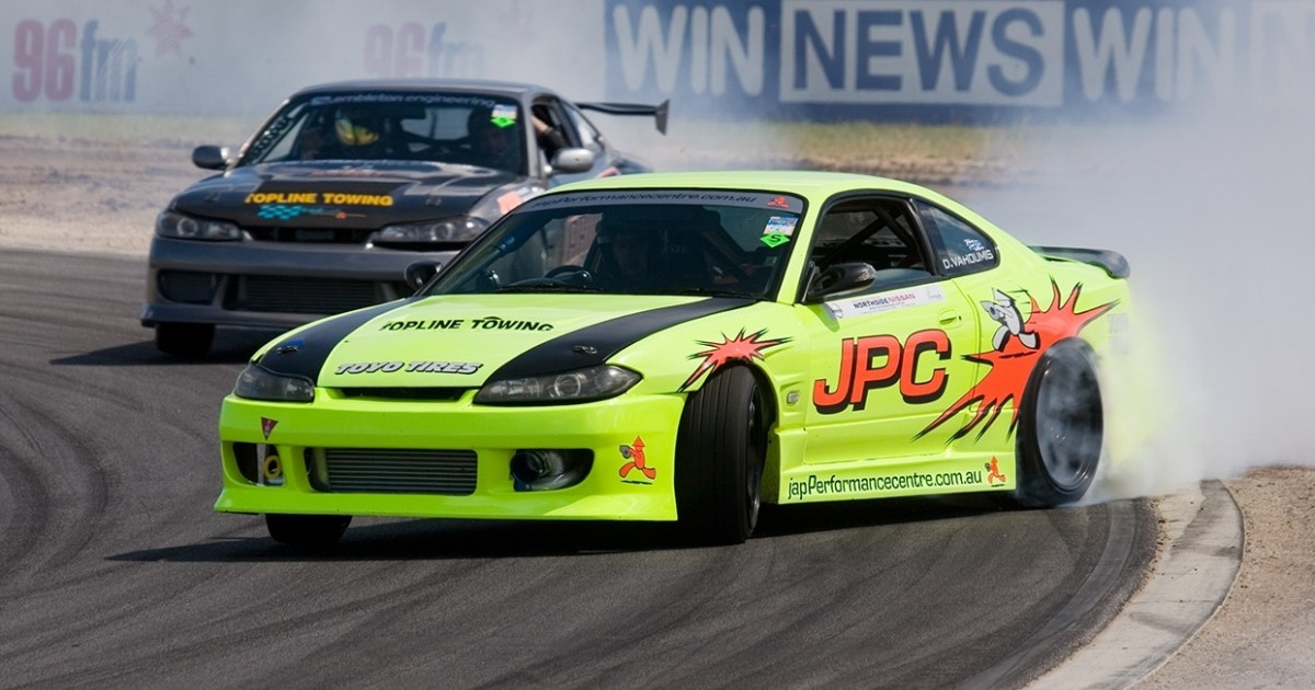 Danny Vahoumis finishes 3rd in Round 4 of the WA Drift Series
